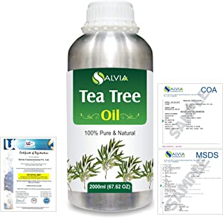 Tea Tree (Melaleuca alternifolia) 100% Natural Pure Essential Oil 2000ml/67 fl.oz.