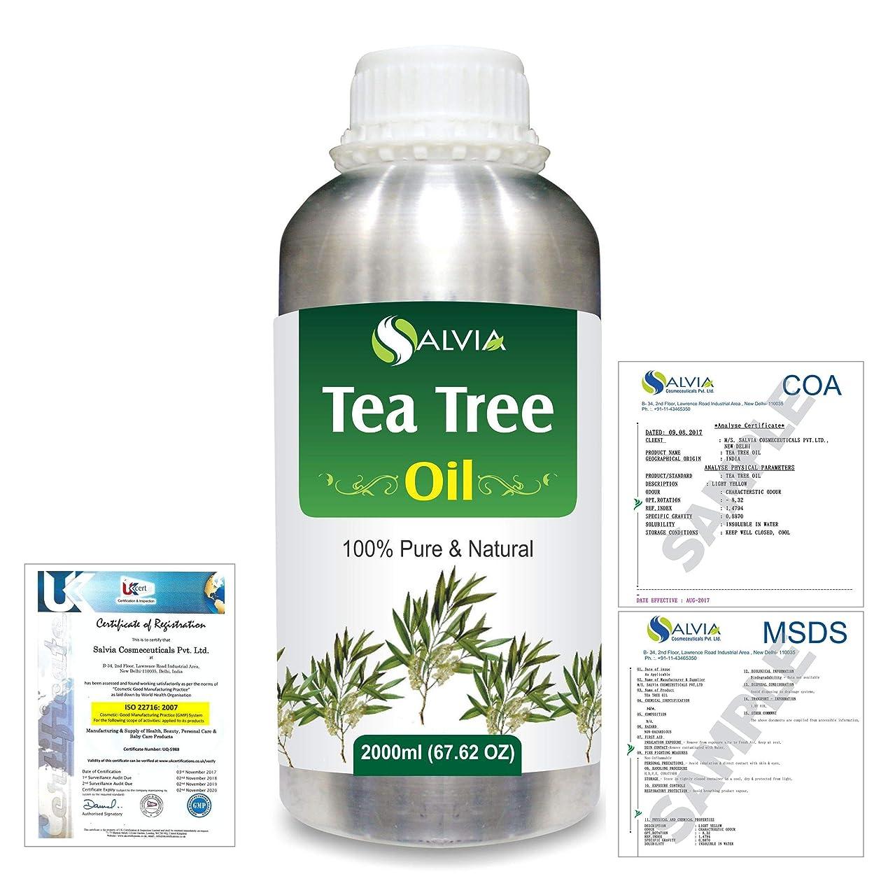 接尾辞答え質量Tea Tree (Melaleuca alternifolia) 100% Natural Pure Essential Oil 2000ml/67 fl.oz.