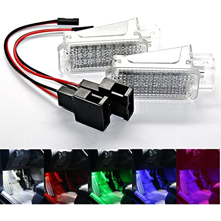 2x Led Module Fußraumbeleuchtung Weiß Blau Rot Smd Modul Fußraum Set 1 Grün Auto
