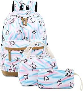 CAMTOP Teens Backpack for School Girls Kids School Bookbag Set Travel Daypack