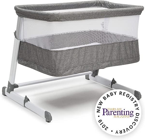 Simmons Kids Room2Grow Newborn Bassinet To Infant Sleeper Grey Tweed