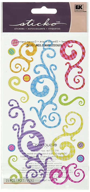 Sticko Classic Stickers-Birthday Swirls