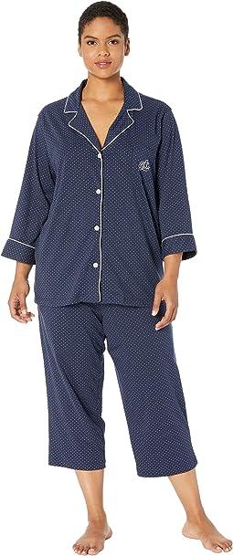 49b169fb5 Lauren ralph lauren plus size folded classic knit pajama + FREE ...