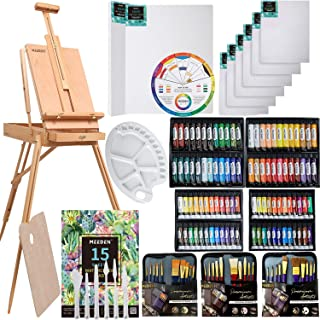 MEEDEN 145 Pcs Deluxe Artist Painting Set with French Easel,