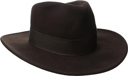 Indiana Jones Men s Crushable Wool Felt Fedora Brown 7361df405673