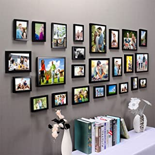 Art Street Set of 25 Photo Frames Mix Size with Free Hanging Accessories Included-(13 Units 4x6, 7 Units 5x7, 4 Units 8x10...