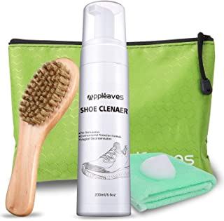 Shoe Cleaner Kit - Appleaves Bundle, Clean 65 Pairs, Sneaker Cleaner, Fabric Cleaner, Cleaning Brush , Miracle Cleaning Polish Kit, White/Black/Brown/Red/Sneaker/Leather/Canvas/Tennis Shoe