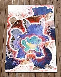 BLASTOISE Wartortle Squirtle EVOLUTION POKEMON Art Print Poster Wall Decor