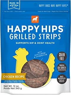 Happy Hips Grilled Strips, Functional Dog Treats, Supports Hip & Joint Health with Glucosamine & Chondroitin