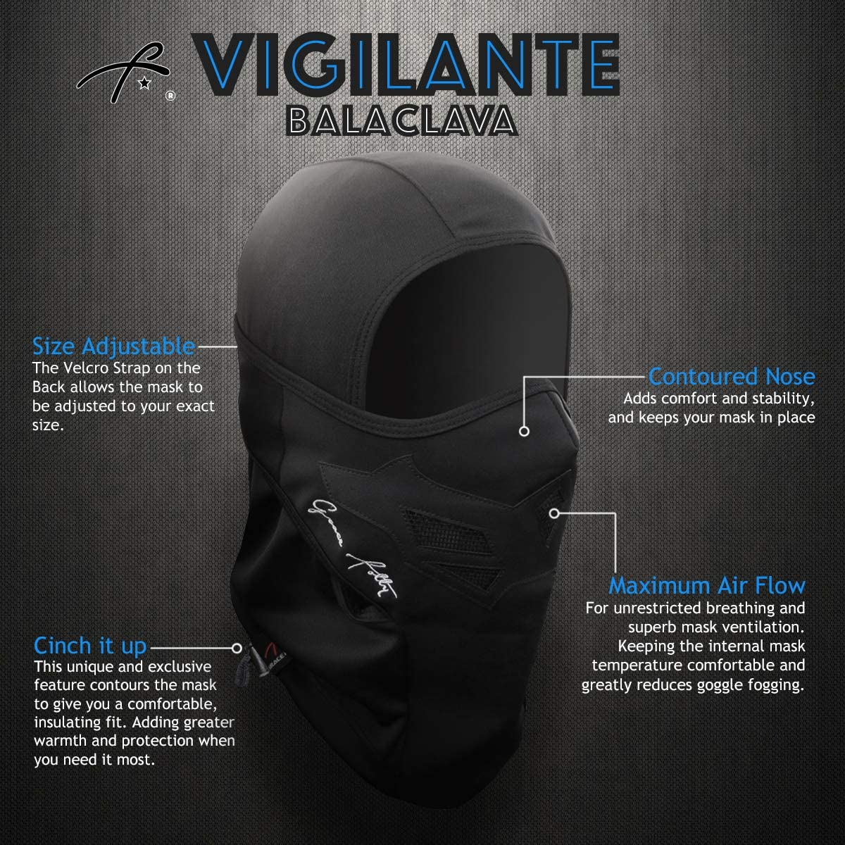 Full Balaclava Ski Face Mask. Use for Snowboarding & Cold Winter Weather Sports