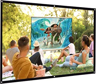 Foldable Projector Screen 100 inch 16:9 HD Projection Movies Screen for Home Theater Wall Projection Indoors Outdoors…