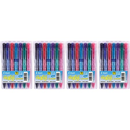 Refillable and Retractable Gel Ink Pens Extra Fine Point 7-Pack Pouch 0.56 x 3.75 x 5.93 inches Assorted Color Inks