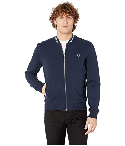 Fred Perry Bomber Neck Sweater (Washed Navy) Men