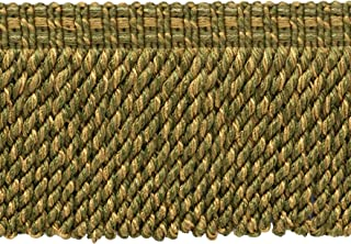 6 inch Long 15 Ft  4.6M Beaver Green Bullion Fringe Trim with Decorative Gimp Design Style# BFS6-WVN Color: L80 5 Yard Value Pack