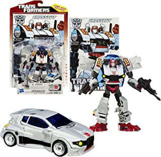 Hasbro Year 2013 Transformers Generations Thrilling 30 Series Deluxe Class 5-1/2 Inch Tall Robot Action Figure #016 - Autobot CROSSCUT with Blaster Gun and Rifle (Vehicle Mode: Sports Car)