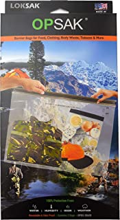 LOKSAK - OPSAK Storage Bag, Re-Sealable and Odorless Protection from Water, Humidity, Sand and Snow