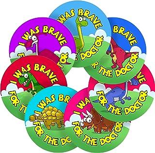 I was Brave for The Doctor Dinosaur Reward Sticker Labels, 12 Stickers @ 2.5