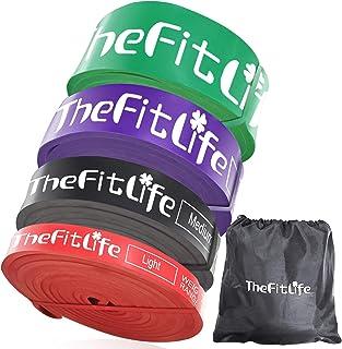TheFitLife トレーニングチューブ 懸垂チューブ 懸垂補助 トレーニングバンド 筋トレチューブ - 天然ラテックス製 懸垂アシスト フィットネスチューブ ヨガ リハビリ ストレッチ 収納ポーチ・日本語説明書付