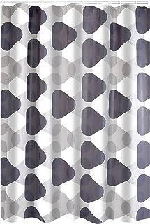RIDDER Shower Curtain, 100% PEVA, Grey, approx. 180x200 cm