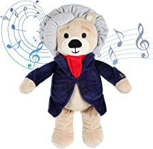 Vosego Ludwig Van Beethoven Virtuoso Bear | 40 mins Classical Music for Babies | 15″ Award Winning Musical Soft Toy | Educ...