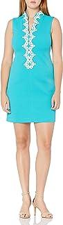 Jessica Howard womens Sleeveless Split Mandarin Collar Shift Dress Casual Dress