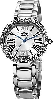 ساعة كوارتز للنساء من جيه بي دابليو بعرض انالوج وسوار ستانلس ستيل - BUR101SS