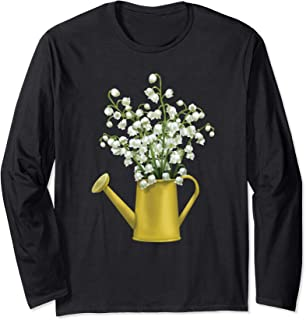 Lily Of The Valley Bouquet Spring Flower Watercolor Gift Long Sleeve T-Shirt
