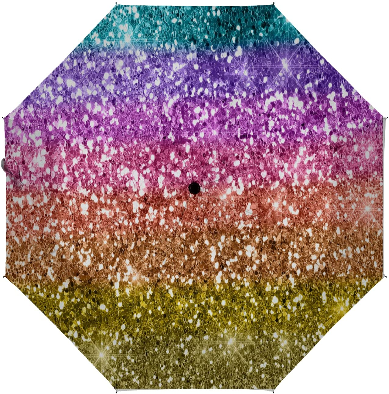Max 79% OFF OcuteO Compact Umbrella Sale item Rainbow Spiral Hippie Boho Dye Tie Auto