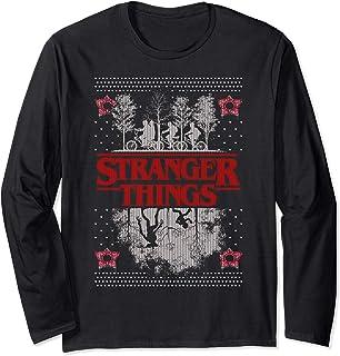 Netflix Stranger Things Ugly Christmas Sweater Style Manche Longue