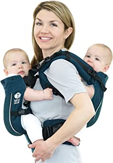 TwinGo Carrier - Air Model - Modern Teal - Great for All Seasons - Breathable Mesh - Fully Adjustable Tandem or 2 Single Baby Carrier for Men, Woman, Twins and Babies 10-45 lbs