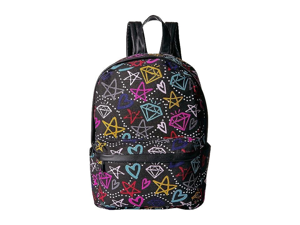 Circus by Sam Edelman Graffiti Print Backpack (Black/Multi Graffiti) Backpack Bags