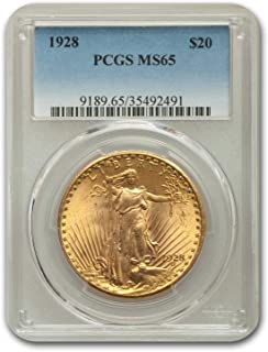 1928 $20 St. Gaudens Gold Double Eagle MS-65 PCGS G$20 MS-65 PCGS