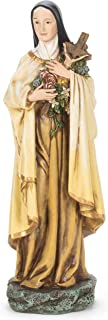Joseph Studio Roman Handpainted Saint Therese Statue Little Flower Home Décor Catholic Patrons and Protectors Religious Marble & Resin Figurine Sculpture, 10 Inches