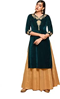 NIKA Women's Velvet Regular Kurta