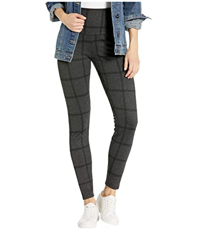 Lysse Signature Ponte Jacquard Window Pane Leggings (Charcoal Window Pane) Women