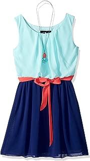 Girls' Big Sleeveless Blouson Dress