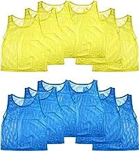 جلیقه های نایلون جلیقه تسلیم جلیقه پیراهن پیراهن برای کودکان ورزش های بانکی بسکتبال، فوتبال، فوتبال، والیبال (12 پیراهن)