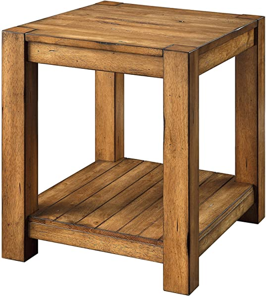 Better Homes And Gardens Bryant End Table Rustic Brown Finish