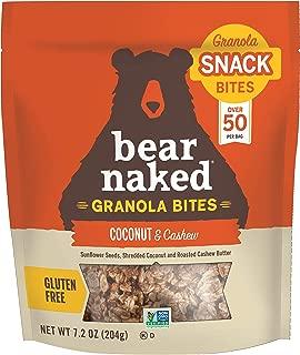 Bear Naked Coconut Cashew Granola Bites - Gluten Free, Non-GMO, Kosher, Vegan - 7.2 Ounce (Pack of 6)