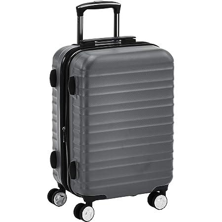 Amazon Basics Valise rigide à roulettes pivotantes de qualité avec serrure TSA intégrée - 55 cm, Gris