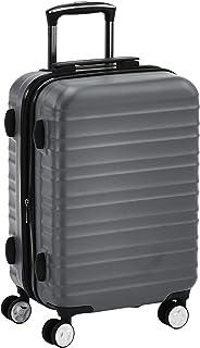 حقيبة امتعة صلبة بعجلات دوارة وقفل تي اس ايه من أمازون بيسكس - 20 انش لون رمادي