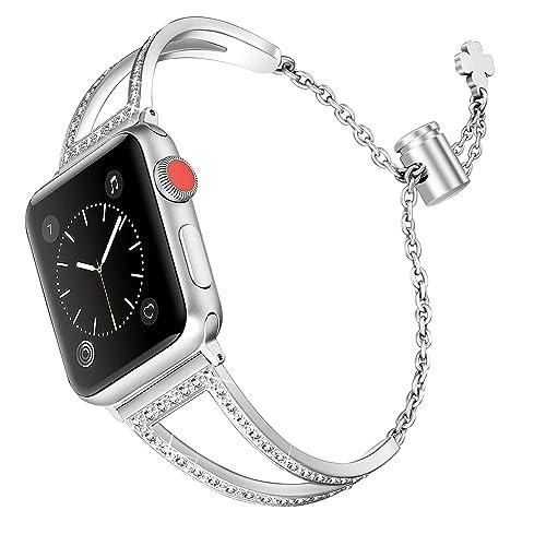 designer fashion bf4da 258c7 Apple Watch Silver Accessories: Amazon.com