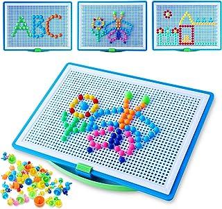 Colmanda Mosaic Puzzle, 296 Pcs Creative Mosaique Puzzle, Mosaïques Jouets Educatifs, Jeu Mosaïques Clous Champignon Cadea...