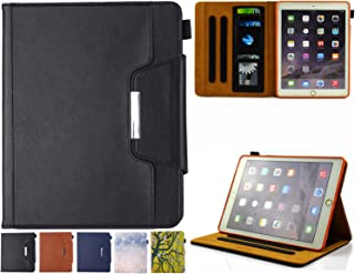 iPad 9.7 Case 2018/2017, iPad Air/Air 2 Case - JZCreater Folio Stand Multi Angle Viewing Wallet Case Cover with Auto Sleep/Wake for New iPad 9.7 2017/2018, iPad Air 1/2, Black