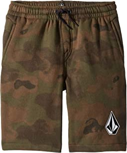Deadly Stones Fleece Shorts (Big Kids)