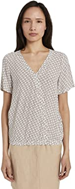 TOM TAILOR Wickel Optik T-Shirt Femme