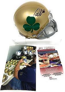 signed notre dame helmet