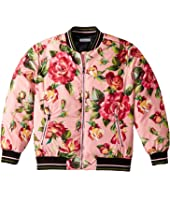 Dolce & Gabbana Kids - City Rose Print Bomber Jacket (Big Kids)
