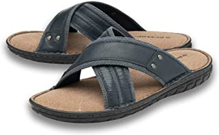 Dunlop Mens Sandals Flip Flops Slip On Memory Foam Sliders Open Toe Size 7-12