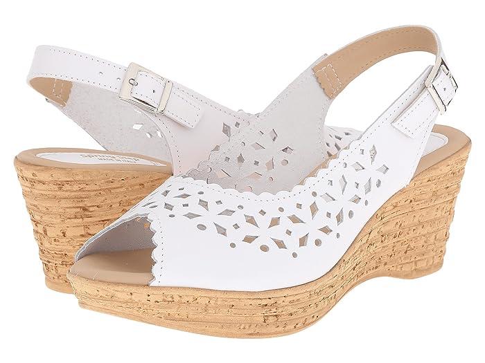 Vintage Sandals | Wedges, Espadrilles – 30s, 40s, 50s, 60s, 70s Spring Step Chaya White Womens  Shoes $62.99 AT vintagedancer.com